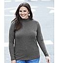 Polo Neck Jersey Top