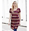 Tribal Print Jersey Tunic