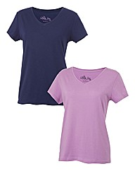 Body Star Pack of 2 V-Neck T-Shirts