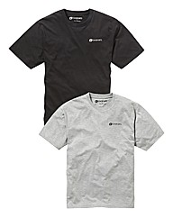 JCM Sports Pack Of 2 Crew Neck T-Shirt