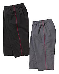 JCM Sports Pack of 2 3/4 Pants