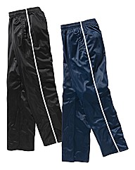 JCM Sports Pk of 2 Polyester Pants 31in