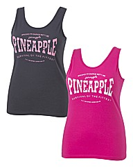 Pineapple Pack of 2 Vests