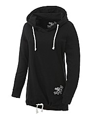 Body Star Long Line Yoga Slouch Hood