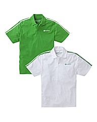 JCM Sports Pack of 2 Polo Shirts