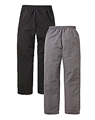 JCM Pack of 2 Woven Joggers 33in