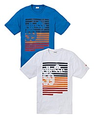 Ellesse Graphic Pack of 2 T-Shirts