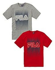 Fila Graphic Pack of 2 T-Shirts