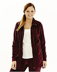 Body Star Velour Longline Zip Jacket