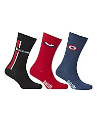 Lambretta Mixed 3 Pack Socks