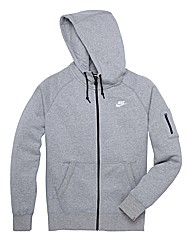 Nike Mighty Zip Up Hooded Sweat Top