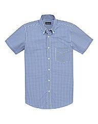 &Brand Tall Mini Check Shirt