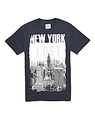 Kayak Tall City Print T Shirt