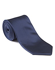 & City Long Length Textured Plain Tie