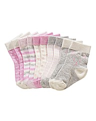 KD BABY Girls Pack of Five Socks