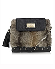Lipsy Faux Fur Cross-Body Bag