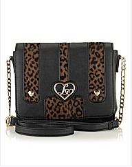 Lipsy Leopard Ponyskin Cross-Body Bag