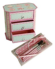 Cupcake Jewellery Box and Brush Set