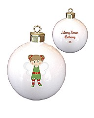 Personalised Christmas Pixie Bauble