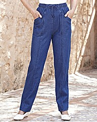 Drawcord Jeans Length 27in