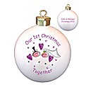 Personalised Our 1st Christmas Bauble
