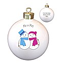 Personalised Snowman Mr & Mr Bauble