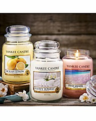 Three Large Jar Yankee Candles