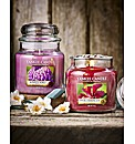 Yankee Candle Set Of 2 Medium Jars
