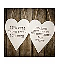 Set Of 2 Heart Message Plaques