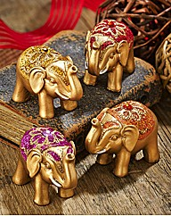 Set Of Four Lucky Elephants