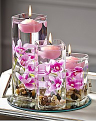 Pink Floating Candle Set