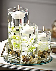 White Floating Candle Set