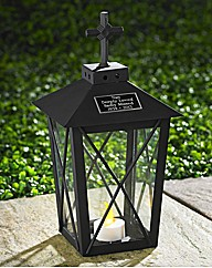 Personalised Metal Graveside Lantern