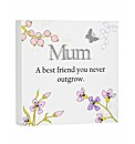 Mums Reflections Plaque