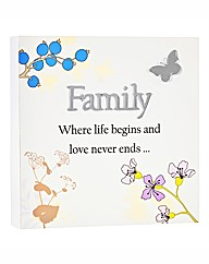 Family Reflections Plaque