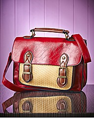 Red & Tan Satchel