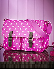 Dotty Pink Saddle Bag
