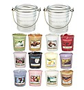 Yankee Candle Clear Bucket Holders Set