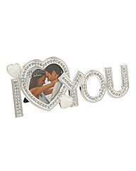 Silver Plated Love Photo Frame