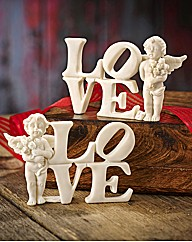 Set Of 2 Cherub Love Letters
