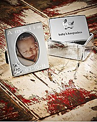 Silver Plated Frame & Keepsake Box