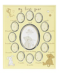 Button Corner My First Year Frame