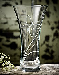Dartington Crystal Butterfly Glitz Vase
