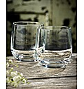 Dartington Pair Of Crystal Tumblers