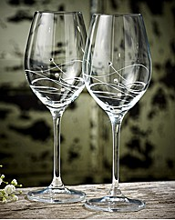 Dartington Pair Of Glitz Wine Glasses