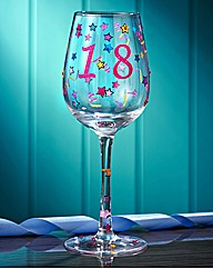 Happy Birthday Age Wine Glasses