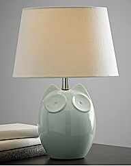 Hector Owl Table Lamp Blue