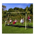 Plum Orang Utan Wooden Garden Swing Set