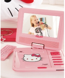 Hello Kitty Portable DVD Player