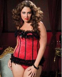 Seven Til Midnight Ruby Corset